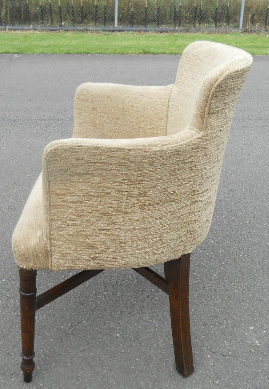 Antique upholstered chair styles - Antique Style Upholstered Salon Tub Armchair